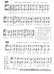 Bendito Jesus e Sou crente batizado (HL183 e 251)