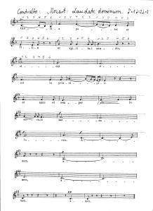 Mozart Laudate DominumContralto